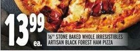16in Stone Baked Whole Irresistibles Artisan Black Forest Ham Pizza