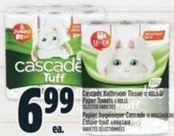 Cascade Bathroom Tissue 12 Rolls Or Paper Towels 6 Rolls