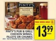 Pinty's Pub & Grill Chicken Wings - Fillets Or Chunks