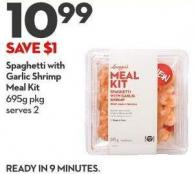 Spaghetti With Garlic Shrimp Meal Kit 695g Pkg Serves 2
