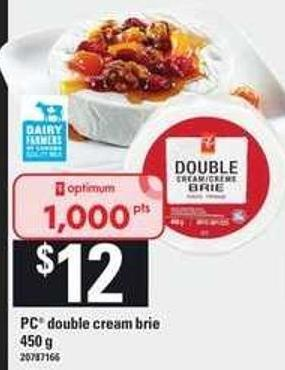 PC Double Cream Brie - 450 g