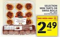 Selection Mini Tarts Or Swiss Rolls