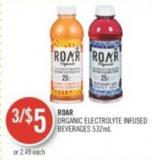 Roar Organic Electrolyte Infused Beverages 532ml