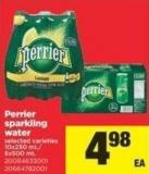 Perrier Sparkling Water - 10x250 Ml/ 6x500 mL