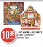 Lindt - Kinder or Hershey's Advent Calendars