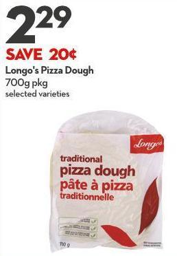 Longo's Pizza Dough 700g Pkg