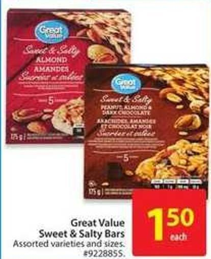 Great Value Sweet & Salty Bars