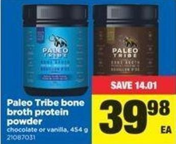 Paleo Tribe Bone Broth Protein Powder - 454 G