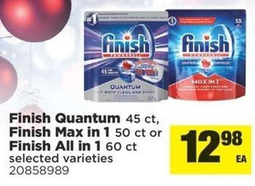 Finish Quantum - 45 Ct - Finish Max In 1 - 50 Ct Or Finish All In 1 - 60 Ct
