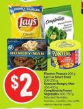 Lay's or Smart Food 200-255 g Swanson Hungry-man 360-455 g Compliments Frozen Vegetables 500-750 g Selected Varieties
