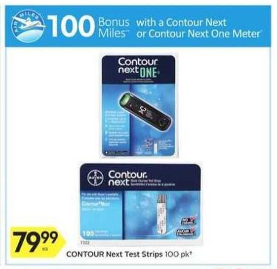 Contour Next Test Strips - 100 Air Miles Bonus Miles