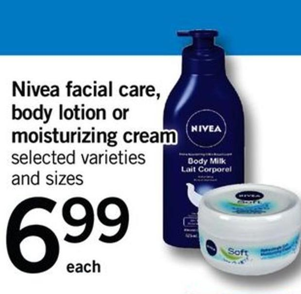 Nivea Facial Care - Body Lotion Or Moisturizing Cream