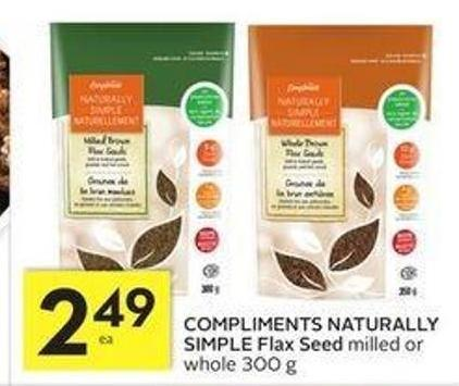 Compliments Naturally Simple Flax Seed
