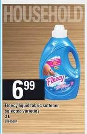 Fleecy Liquid Fabric Softener  - 3 L