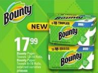 Bounty Paper Towels 12=18 Rolls - Bounty Paper Towels 6=18 Rolls