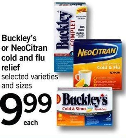 Buckley's Or Neocitran Cold And Flu Relief