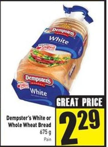 Dempster's White or Whole Wheat Bread 675 g