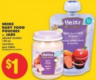 Baby Heinz Baby Food Pouches or Jars - 128 mL