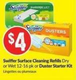 Swiffer Surface Cleaning Refills Dry or Wet 12-16 Pk or Duster Starter Kit