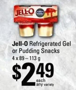 Jell-o Refrigerated Gel Or Pudding Snacks - 4 X 89 – 113 G