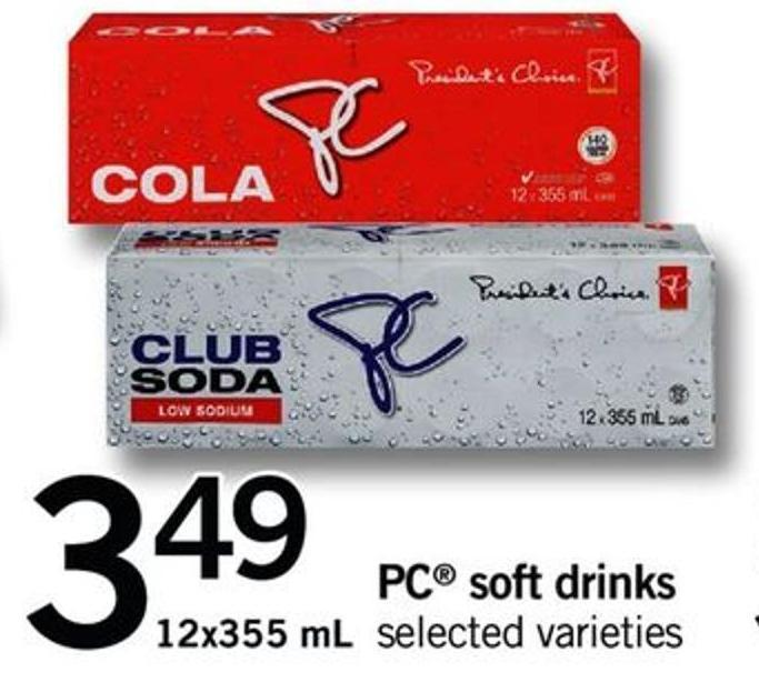 PC Soft Drinks - 12x355 mL