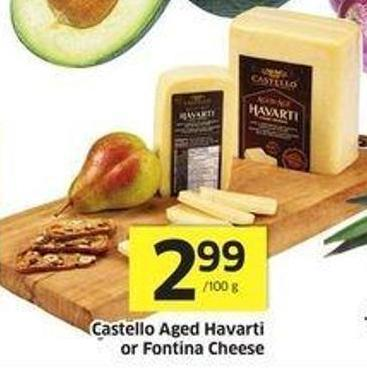 Castello Aged Havarti or Fontina Cheese