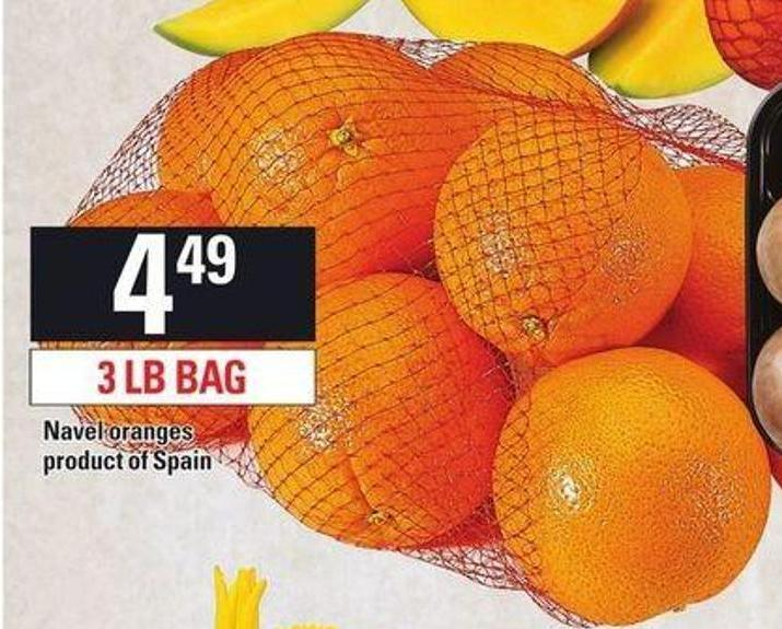 Navel Oranges - 3 Lb Bag