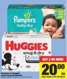 Pampers Or Huggies Super Big Pack Diapers - 42-120's