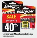 All Energizer Max Alkaline Batteries