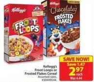 Kellogg's Froot Loops Frosted Flakes Cereal