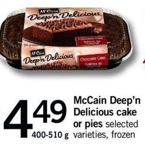 Mccain Deep'n Delicious Cake Or Pies - 400-510 G