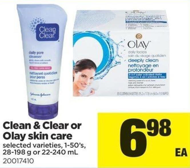 Clean & Clear Or Olay Skin Care - 1-50's - 28-198 g or 22-240 mL