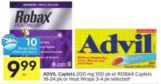 Advil Caplets - 10 Air Miles Bonus Miles