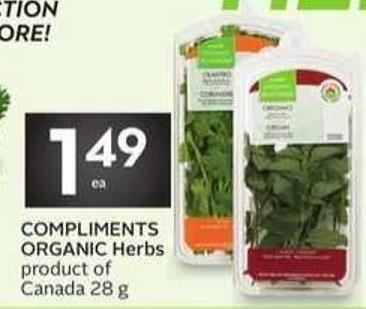 Compliments Organic Herbs