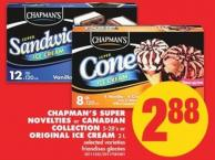 Chapman's Super Novelties or Canadian Collection 5-28's or Original Ice Cream 2 L