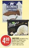 Breyers Creamery Style - Blends Ice Cream (1.66 L) - Novelty Bars or Cones