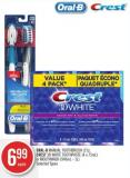 Oral-b Manual Toothbrush (2's) - Crest 3D White Toothpaste (4 X 75ml) or Mouthwash (946ml - 1l)