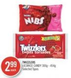 Twizzlers Licorice Candy 300g - 454g