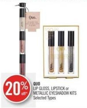 Quo Lip Gloss - Lipstick or Metallic Eyeshadow Kits