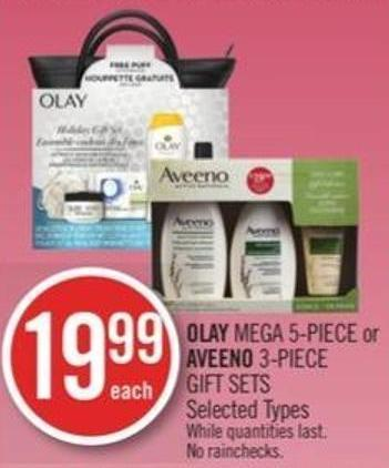 Olay Mega 5-piece or Aveeno 3-piece Gift Sets