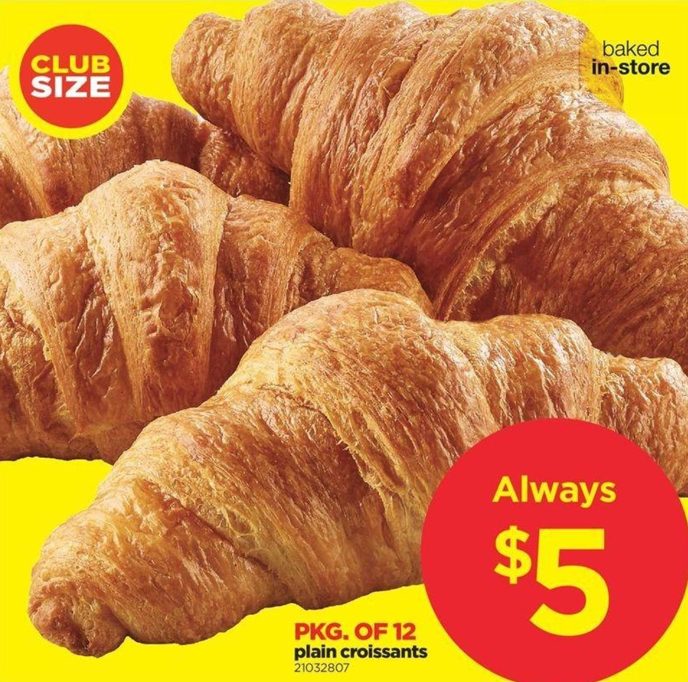 Plain Croissants - Pkg of 12