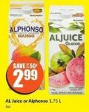 Al Juice or Alphonso 1.75 L