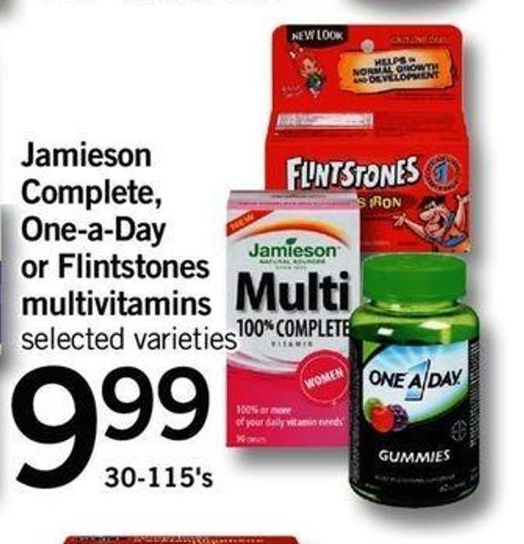 Jamieson Complete - One-a-day Or Flintstones Multivitamins - 30-115's