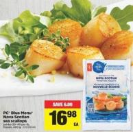 PC Blue Menu Nova Scotian Sea Scallops - Jumbo 20-40 Per Lb - Frozen - 400 g