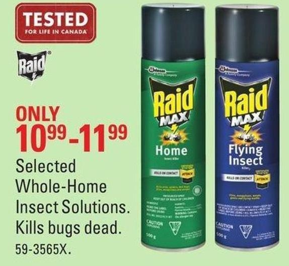 Selected Whole-home Insect Solutions