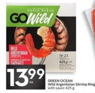 Green Ocean Wild Argentinian Shrimp Ring