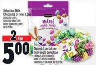 Selection Milk Chocolate Or Mini Eggs