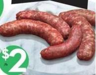 Fresh Mild or Italian Sausages