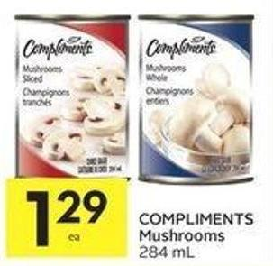 Compliments Mushrooms 284 mL