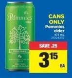 Pommies Cider - 473 mL